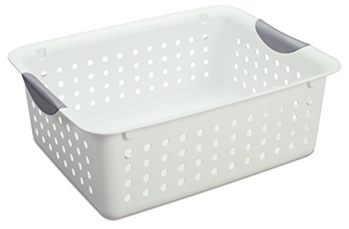 Sterilite Medium Ultra Basket Plastic Storage Bin Organizer - White Pack of 12