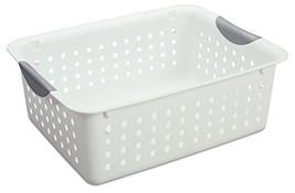 Sterilite Medium Ultra Basket Plastic Storage Bin Organizer - White Pack... - $59.34