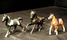 Metal and Ceramic Horses AA20-7324 Vintage