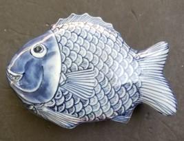 Fitz & Floyd Fish Koi Dish with Lid Trinket Box - $49.40