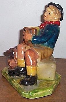 Concertina Accordion Figurine Boy Plays The Button Box
