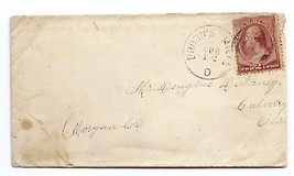 c1883 Brown's Mills, OH Discontinued/Defunct Post Office (DPO) Postal Cover - $9.95