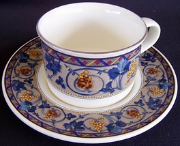 Mikasa Bordeaux CAA35 Cup and Saucer - $10.99