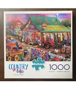 Buffalo 1000 Pc Jigsaw Puzzle ANTIQUE MARKET Country Life Store Quilts E... - $14.36
