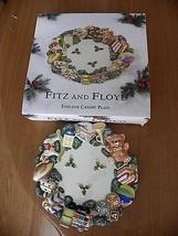 FITZ & FLOYD ~ Toyland ~ CHRISTMAS CANAPE PLATE ~ Toys, Teddy Bear ~ MIB - $7.67