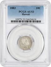 1883 Hawaii 10c PCGS AU53 - Popular Territorial Issue - $426.80