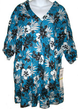 Coco Reef swim cover up caftan sz M blue lagoon NEW $90 - $20.00