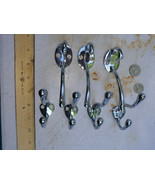 "20RR07 CHROMED BRASS COAT HOOKS (3) 4-1/4"" TALL X 2-1/2"" DEEP & (4) 2-3/4"" TALL  - $14.75"
