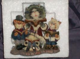 Mrs Fezziwig with Marley, Bob & Caroline...Caterwauling ~Figurine ~ Boyds - $25.00