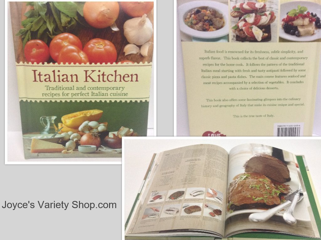 Italian kitchen cook book collage