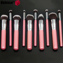 Baby Pink 10-Piece Professional Full Size Brushes Cosmetic Brush Set  - $59.99
