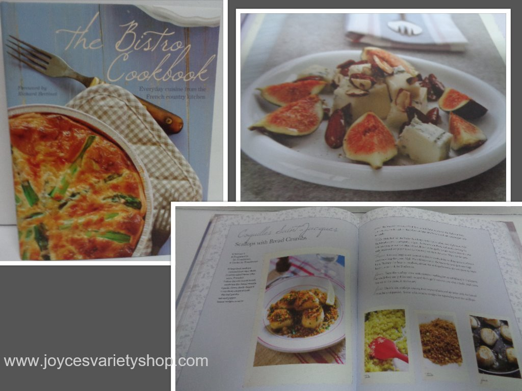 French bistro cookbook collage