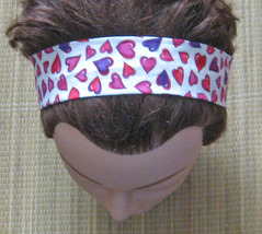 Hairband Hearts/Valentines Day/With Elastic/Handmade! - $7.00