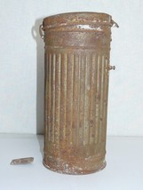 Original Wermacht  WWII German Army Gas Mask Container Box Canister Expe... - $24.75