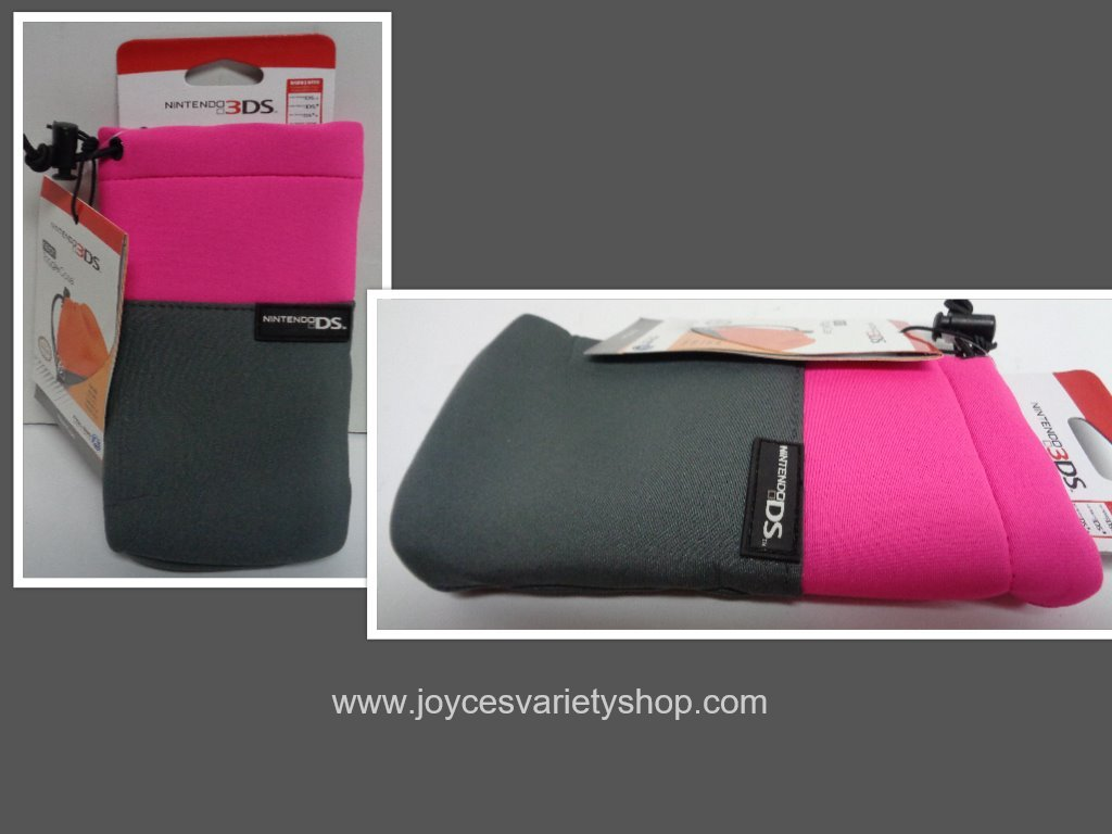 Nintendo ds pink case collage