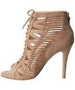 NEW NINE WEST BOOTIE ANKLE BOOT STRAPPY SHOE LEATHER SUEDE SIZE 8.5 - $49.99