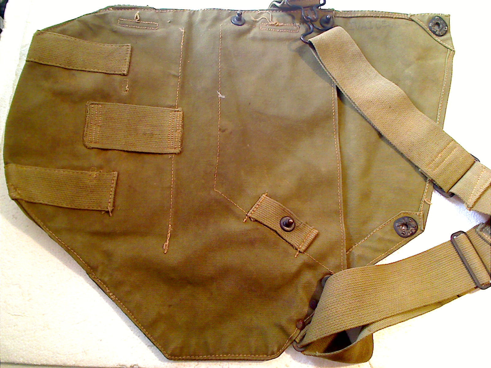 8cb19d19f0 Wwii Era Us Army Od Green Canvas Gas Mask Bag and 50 similar items