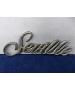 "1985-1991 Cadillac ""Seville"" Gold Chrome Door Trunk Script Emblem OEM - $7.00"