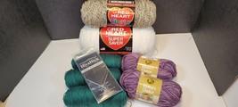 Lot Of Various Yarn HiyaHiya Needle Vanna's Choice Red Heart Knitting Se... - $23.90