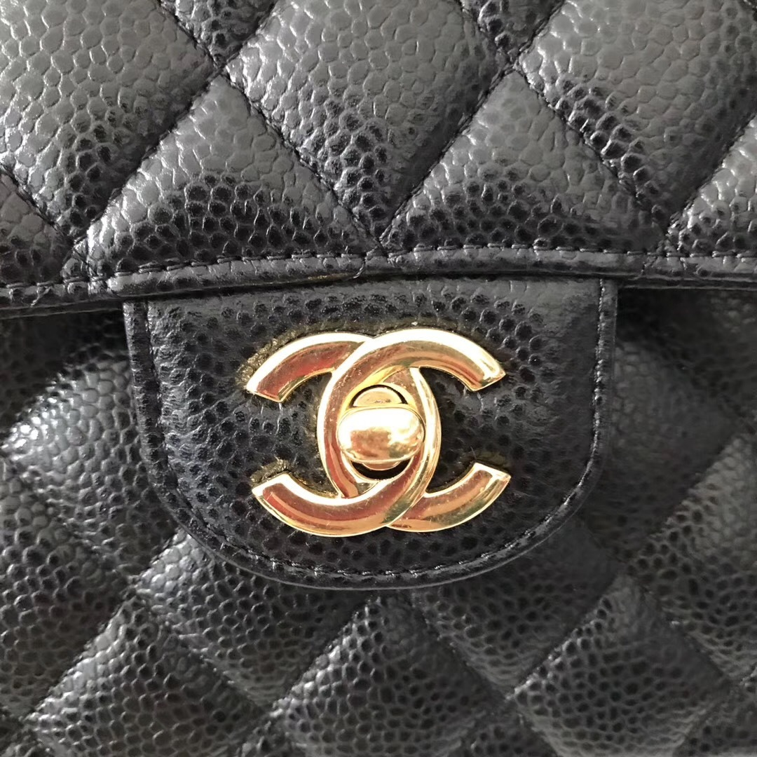 NEW AUTHENTIC CHANEL 2018 BLACK CAVIAR SMALL DOUBLE FLAP BAG GHW RARE