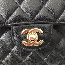 NEW AUTHENTIC CHANEL 2018 BLACK CAVIAR SMALL DOUBLE FLAP BAG GHW RARE image 6