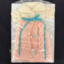 Vintage Barbie Girls doll clothes with shoes hand made knit Original 11in. - $10.90