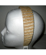 Macy's Headband golden yellow tweed sparkle NEW - $6.00
