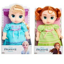 "Disney's FROZEN 2 Young Anna & Elsa 12"" Toddler Dolls [Set of 2] NIB/Sealed - $41.99"
