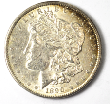 1890 $1 Morgan Silver One Dollar US Philadelphia VAM 1C Denticle Impress... - $31.67