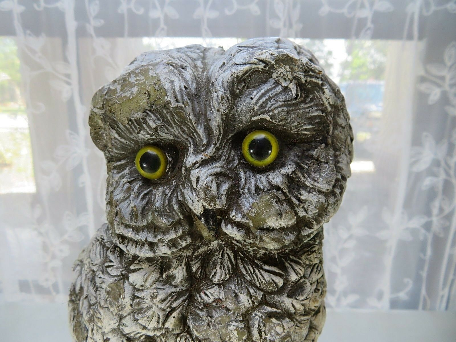 Primary image for Vintage important wax owl statue with glass eyes natural cabin deco