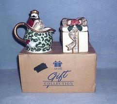 Avon St Nicholas Covered Sugar Bowl and Creamer 2001 Nbr F667661 NIB - $14.99