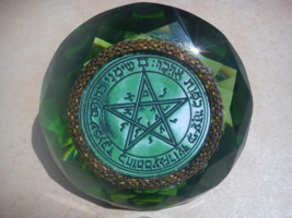 Second Pentacle of Venus  on green crystal diamond for grace and honor i... - $99.99