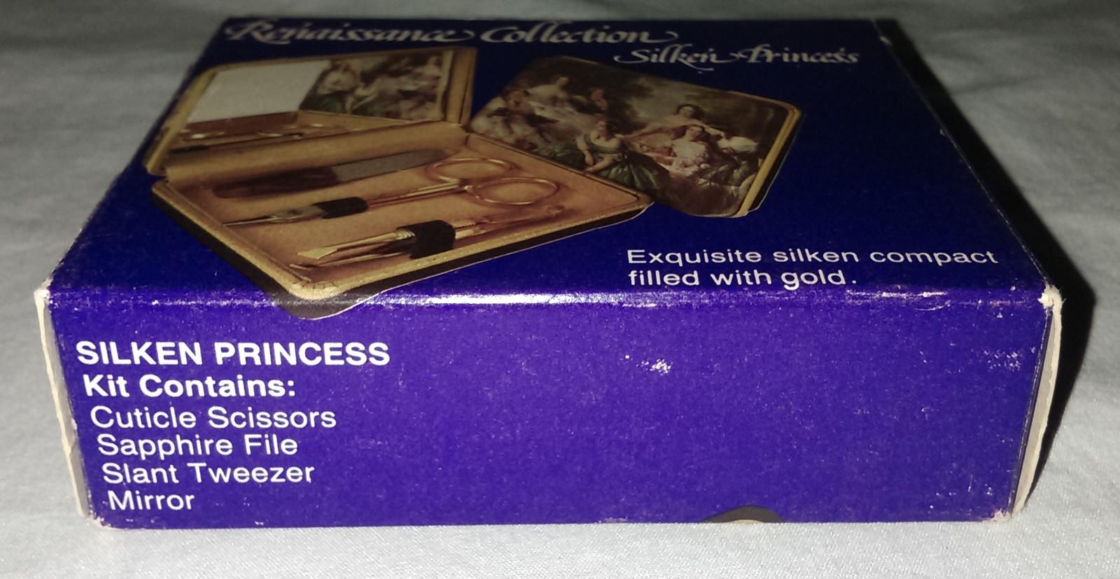 Renaissance Collection Silken' Princess Mirror Compact w/Gold Scissors Tweezer