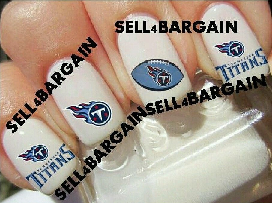tennessee titans nfl football tattoo nail art decals non toxic nail art accessories. Black Bedroom Furniture Sets. Home Design Ideas