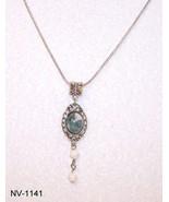 NV-1140 - Tropical Jasper Stone on Antique Silv... - $27.23