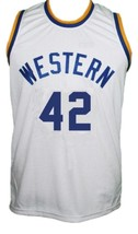 Ricky Roe Western Blue Chips Movie Basketball Jersey Sewn White Any Size image 1