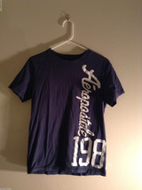 Aeropostale Women's Size S T-Shirt Dark Navy Blue Short-Sleeve Graphic Tee