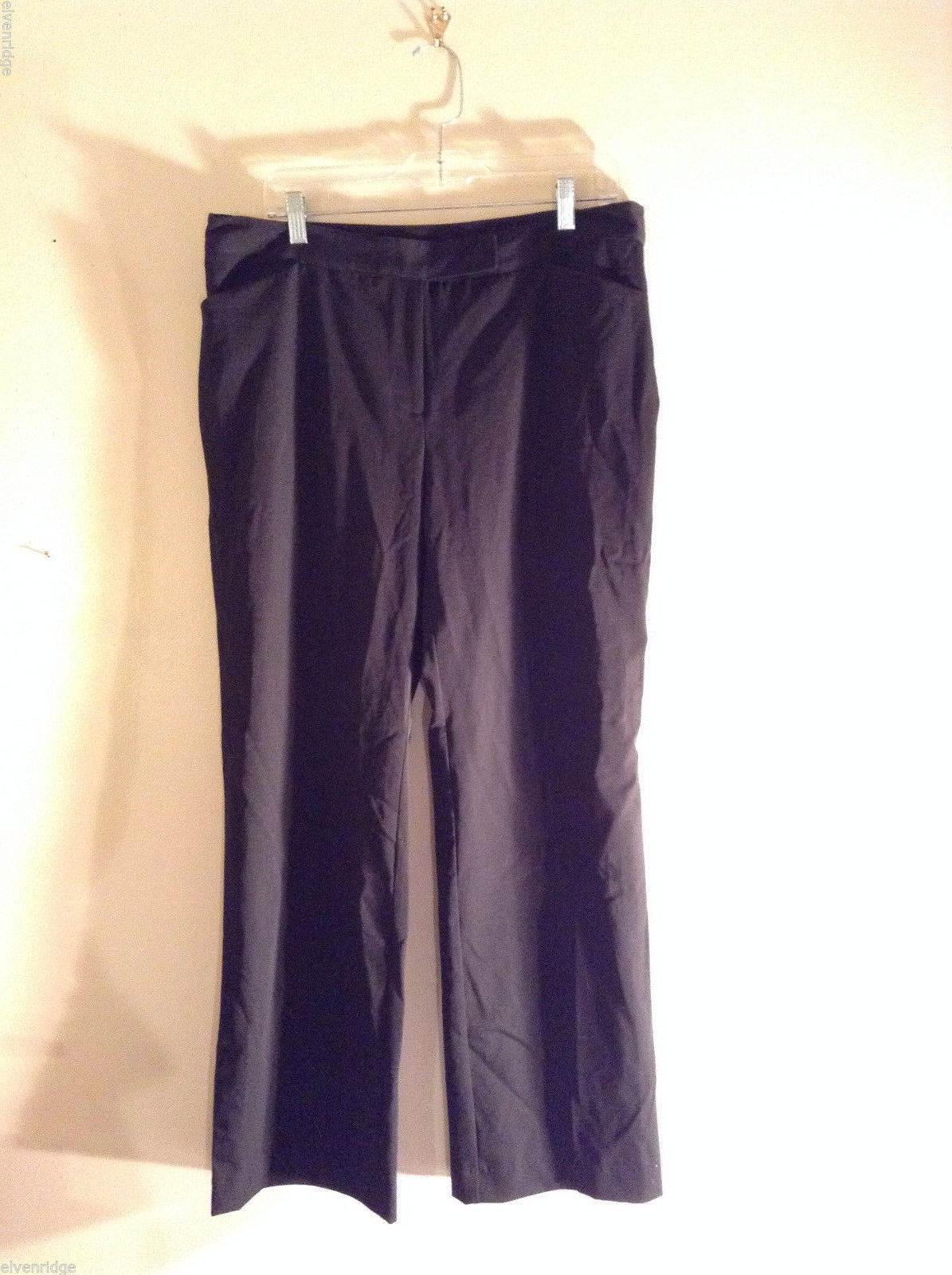 Attention Women's Size 14 Stretchy Fit Straight Leg Black Dress Pants