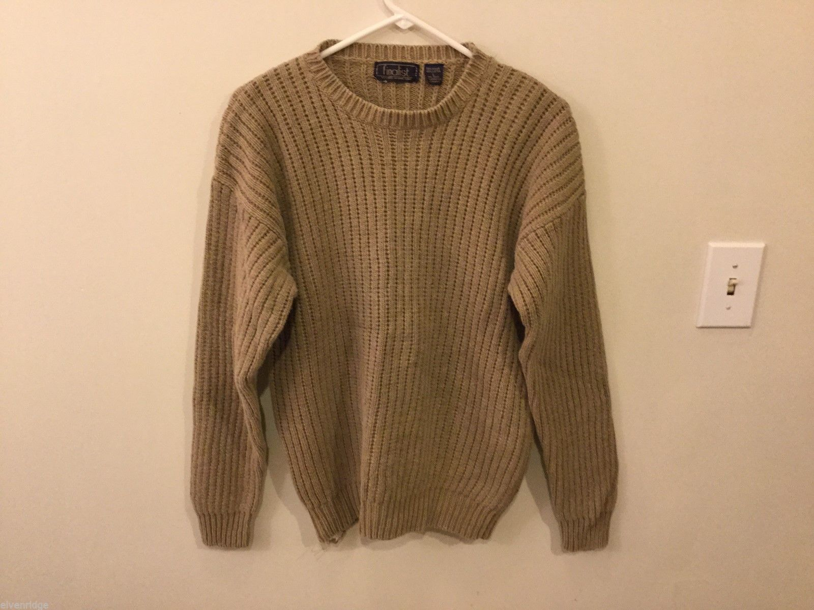 Finalist Mens Light Brown Knitted Sweater, Size Large
