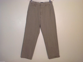 Dockers D4 Relaxed Fit Mens Khaki Casual Pants 32x34 100% Cotton Grayish Tan