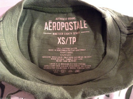 Aeropostale Women's Size XS T-Shirt Medium Lime Green Short-Sleeve Graphic Tee image 3