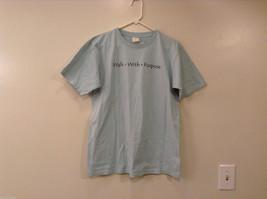 "SPX Light Blue 100% Organic cotton T-shirt ""Walk with Purpose"" Size M"