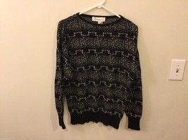 Womens Diversity Black and Silver Crew Neck Sweater, Size Large