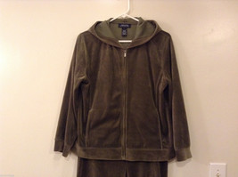 Womes Jones New York Signature Olive Green Spot Hoodie and Pants Set Size M/L image 2