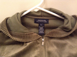 Womes Jones New York Signature Olive Green Spot Hoodie and Pants Set Size M/L image 6