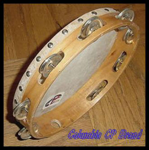 NEW Church TAMBOURINES 10 Inches Single Row Jingles Goat Skin Heads - CP MADE