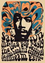 1968 Jimi Hendrix Miami Pop Festival Poster Lithograph Re-issue - $20.00