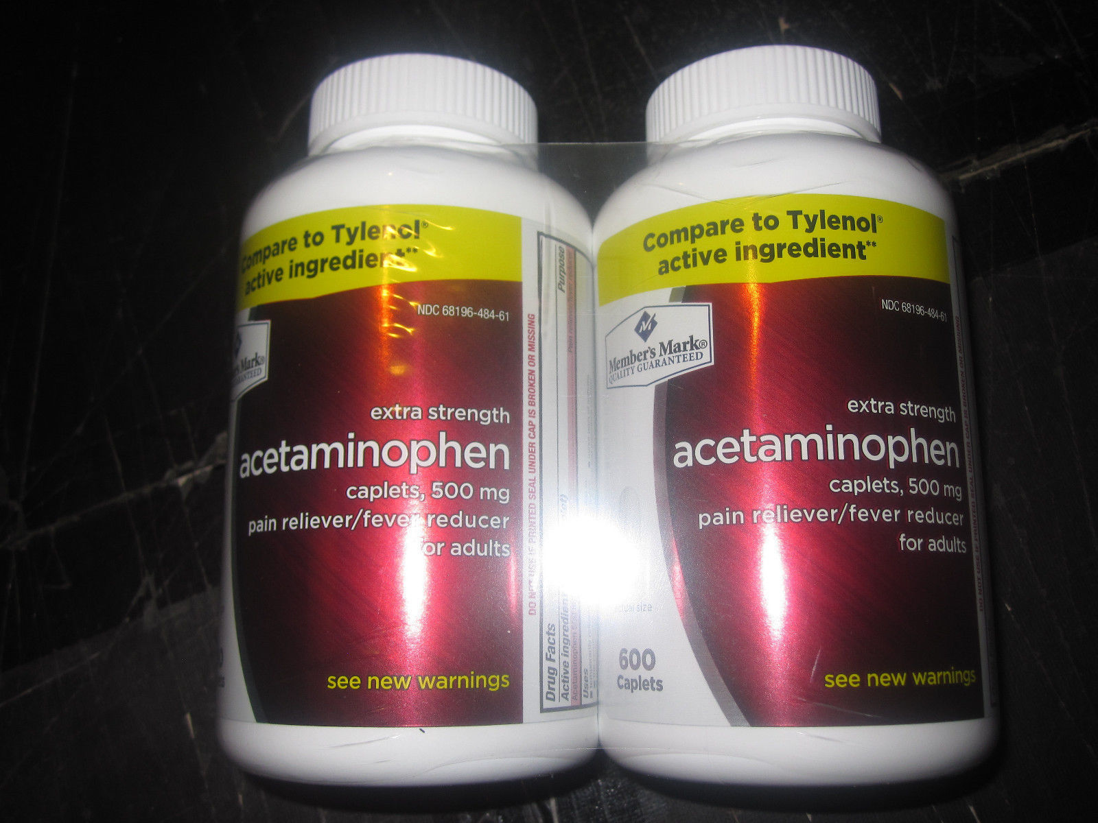 Extra Strength Acetaminophen Member's Mark 2-600 Caplets 500mg
