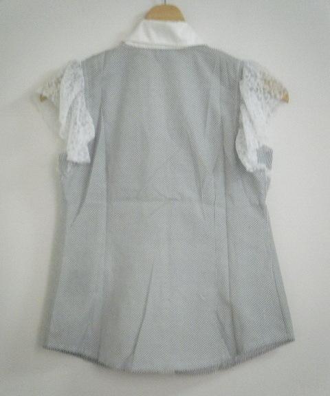 New  Black&White Top/Blouse/Tank/Sleeveless Fashion Korea Style Deco Lace Sleeve