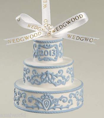 WEDGWOOD JASPER WEDDING CAKE WHITE/BLUE FIRST CHRISTMAS TOGETHER  NIB